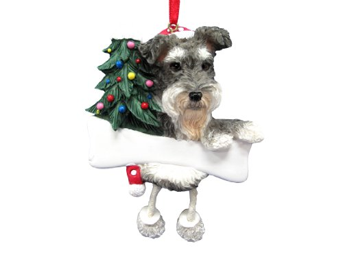 Schnauzer Ornament Gray and White with Unique