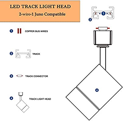 Led Cylinder Track Lighting Heads For 2 Wire 1 Compatible