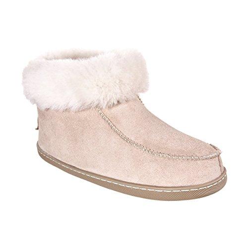 Lammfell Schuhe Echtleder Damen Leder Schlappen Vanuba Beige Pantoffeln Weiß Damenschuhe Wolle 4OxwU