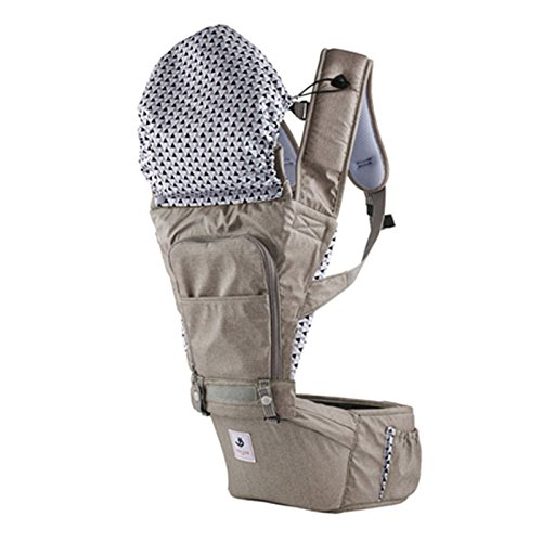 SINNAYEO - No5 Mocha Organic Cotton Baby Hip Seat Carrier by SINNAYEO