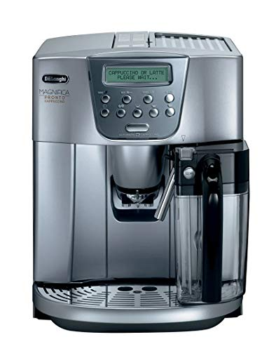 Delonghi super-automatic espresso coffee machine with an adjustable grinder, double boiler, milk frother, maker for brewing espresso, cappuccino, latte, macchiato. ESAM4500 Magnifica Pronto Cappuccino