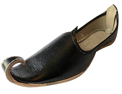 Step n Style Men Handmade Ivory Traditional Jamawarr-Leather-Khussa Aladdin Khussa ()