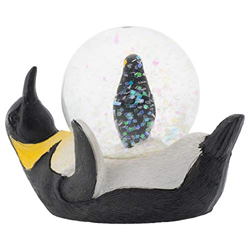 - Elanze Designs Yellow Neck Penguin Mommy and Chick Figurine 45MM Glitter Water Globe Decoration