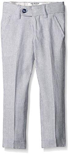 Isaac Mizrahi Little Boys' Textured Linen Pants, Navy, 2 (Textured Linen Pant)