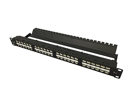 R.J. Enterprises - Cat6, 10 Gig, TOOL-LESS, High Density Patch Panel (48 Port in 1U) - -
