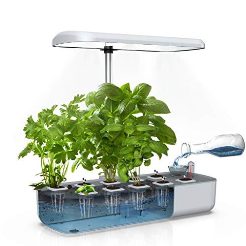 WISREMT Système de Culture hydroponique, Kit démarrage Jardin d'herbes d'intérieur avec lumière Croissance à LED, Jardinière Jardin Intelligente pour la Cuisine à Domicile, 10 Pods