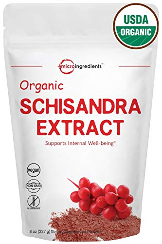 Schisandra Berry - Organic Schisandra Extract Powder, 8 Ounce, Anti-Aging Adaptogenic Herb, Powerfully Supports Liver Detox, Cognitive Health & Stress Relief, Non-GMO and Vegan Friendly