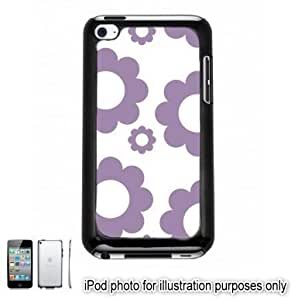 Purple Circle Flowers Pattern Case For Samsung Note 2 Cover Touch Hard Shell Black 4th Generation