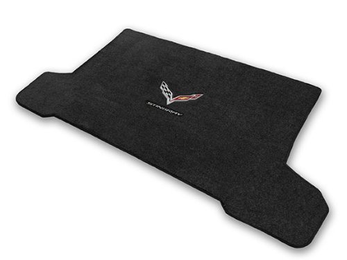 2014-2017 Corvette C7 Convertible Jet Black Trunk Mat - Crossed Flags & STINGRAY Logo