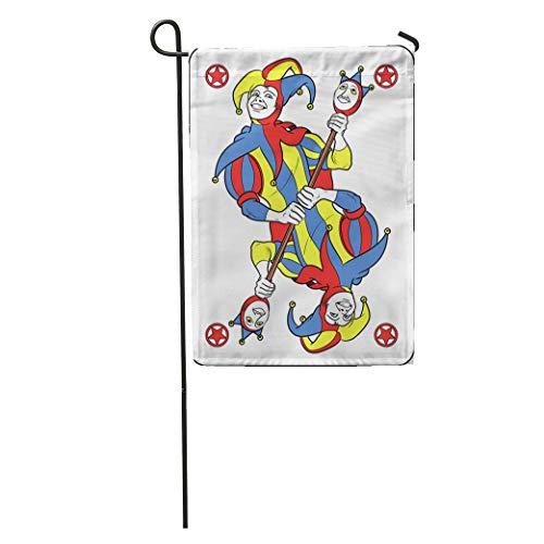 - Semtomn Garden Flag Reversible Joker Displayed Inside His Playing He Holds Strange Scepter Home Yard House Decor Barnner Outdoor Stand 12x18 Inches Flag