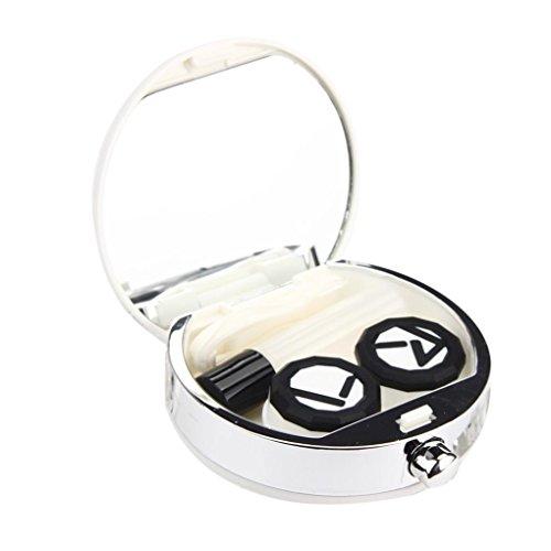 Tenworld Perfume Bottle Shaped Contact Lens Case Mirror Tweezer Stick Holder Box - Sunglasses Contact Lens
