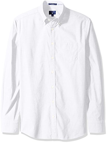 GANT Men's Washed Oxford Shirt, White, L