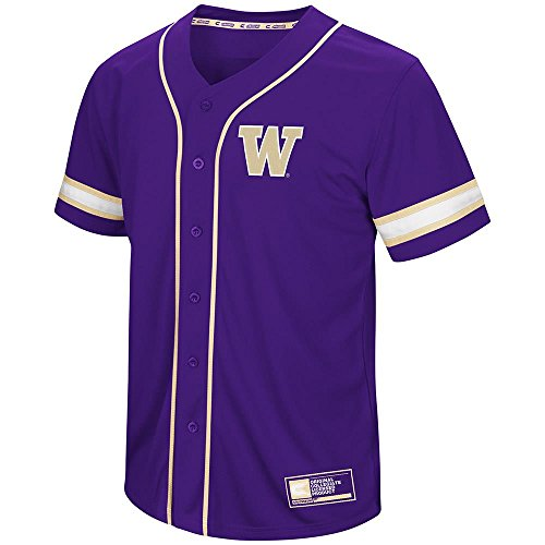 Colosseum Mens Washington Huskies Baseball Jersey - ()
