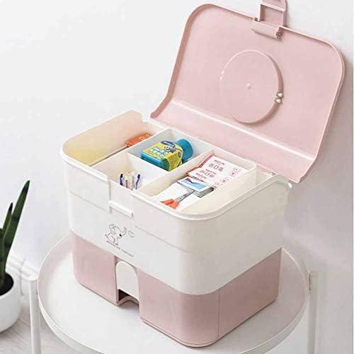 救急箱 多層大容量 収納ボックス 救急 小物入れ 道具箱 応急処置 収納 ボックス ケース 多機能 メイクケース 化粧品 薬品 収納ケース ハンドル付き 32*20*15cm 32*20*25cm ピンク グリーン ブルー