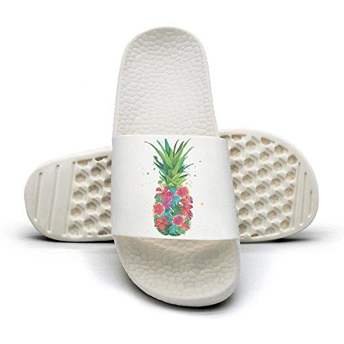 WooWe Pineapple Flowers Aloha Hawaii - Vintage Hawaiian men Fashion Slippers Sandals Casual by WooWe (Image #9)
