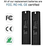 2 Pack Upgrade to 3600mAh Relacement Battery for