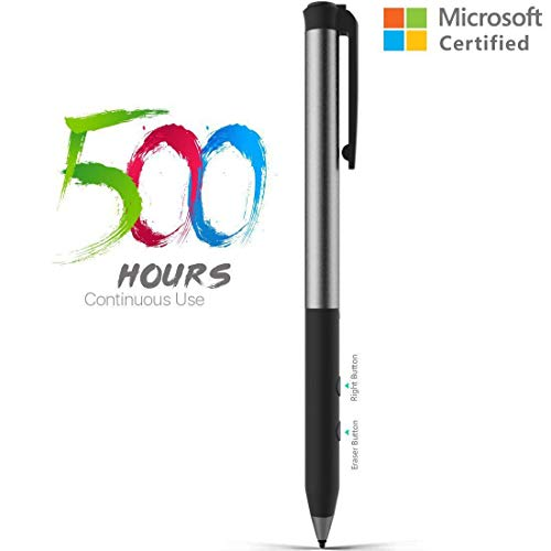 Microsoft Certified Rechargeable Surface Stylus Pens Supporting 500-Hour Working 180-Day Standby Built-in Battery Active Touchsreen Pen 4096 Pressure Sensitivity Surface Pro 3/4/Laptop/Book/Studio by Heiyo (Image #7)