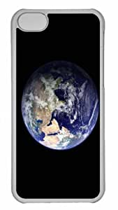 Customized iphone 5C PC Transparent Case - The Blue Marble Eastern Hemisphere Personalized Cover