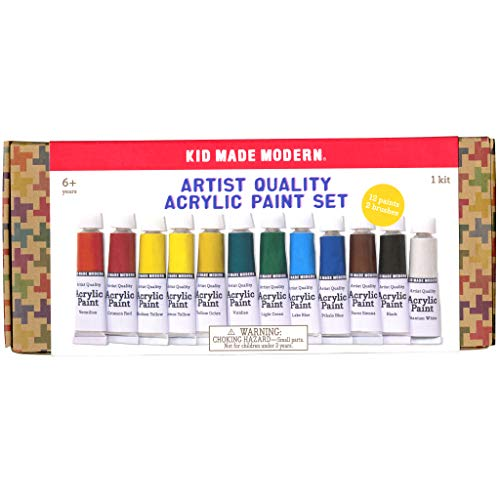 Kid Made Modern Acrylic Paint Set - Professional Artist Quality Paint | 12 Assorted Colors