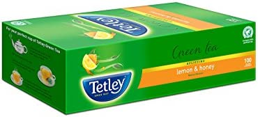 Tetley Green Tea Lemon and Honey 100 Tea Bags