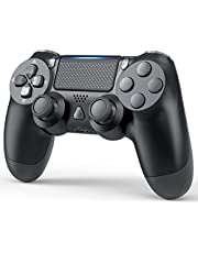 YCCTEAM Wireless Game Controller Compatible with PS-4/ Slim/Pro Console (Jet Black)