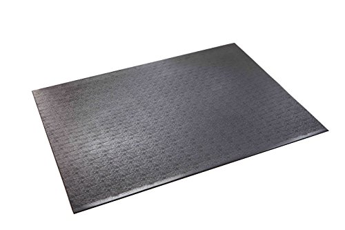 Supermats High Density Commercial Grade Solid Equipment Mat 27GS Made in U.S.A. for Indoor Cycles Exercise Bikes and Steppers  (3 Feet x 4 Feet) (36-Inch x 48-Inch)  (91.44 cm x 121.92 cm) (Stepper Mat)