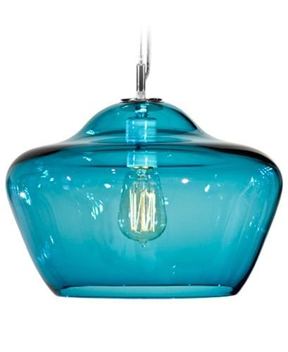 Tempo Luxury Home Vesuvius Collection Aura Pendant, Large, Lagoona
