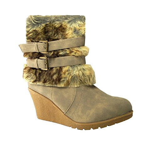 King Of Shoes Women's Classic Boot Beige NB bOXx0so2iV