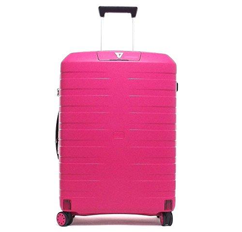 Roncato trolley viaggio, Box 5512-19, trolley valigia medio quattro ruote in polipropilene, colore ciliegia