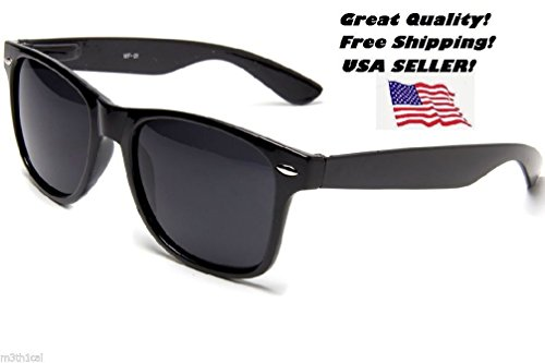1 Black Wayfarer Blues Brother Style Jazz Retro Shades Sunglasses Glasses (Marx Brothers Costumes)