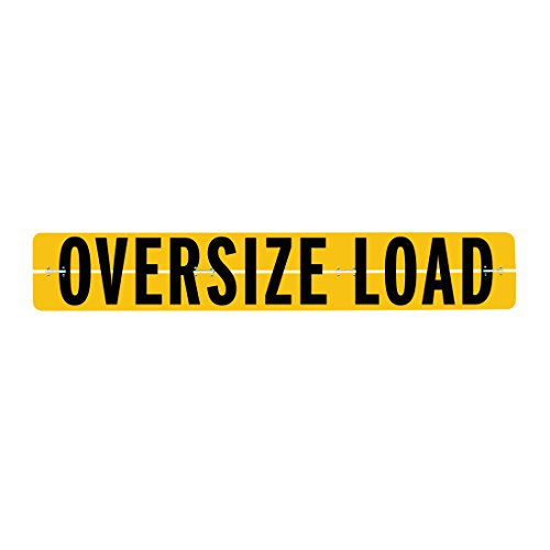 Vulcan Brands Hinged Aluminum Oversize Load Sign (12'' x 72'' - For Trucks And Trailers)