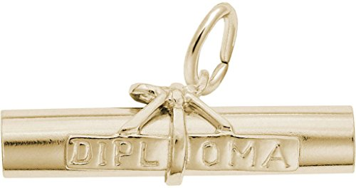 Rembrandt Diploma Charm - Metal - Gold-Plated Sterling Silver