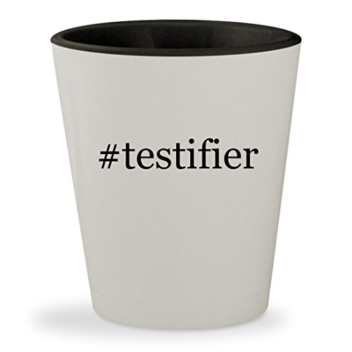 #testifier - Hashtag White Outer & Black Inner Ceramic 1.5oz Shot - Glasses August Alsina