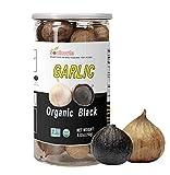 Soulmate Organic Black Garlic 250g Whole Black Garlic Aged for full Fermented 90 Days, NON-GMO Made in California, High in Antioxidants One-Clove Organic Black Garlic 8.82 Ounce (250g)