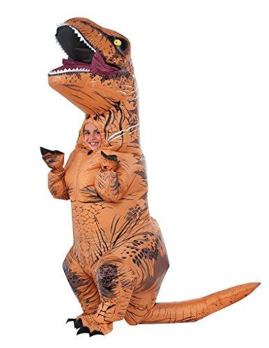 Inflatable Dinosaur Costume Running (Child size Kids T Rex Inflatable Costume - Jurassic World - Size 8-10)