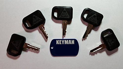 5 Keyman John Deere Gator Keys-Ignition Key for Bobcat, John Deere, Gehl, Multiquip, Part Number 131841 (John Deere Gator Key)