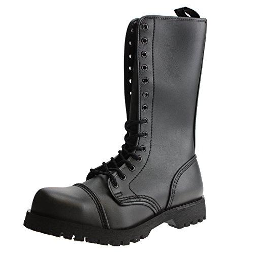 Erwachsenen 601402 amp; Schwarz vegi Vegetarian Unsisex Boots Braces Stiefel loch Schwarz 14 87PnvZ