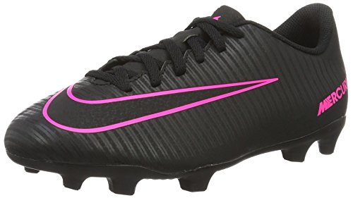 Nike Kids Jr Mercurial Vortex III FG Black/Black Pink Bla...