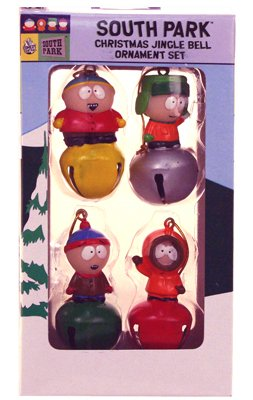 Click for larger image of South Park Christmas Jingle Bell Ornament Set
