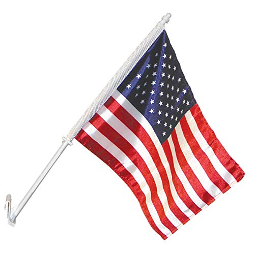 Annin Flagmakers 11-Inch by 14-Inch U.S. Nylon Car Flag and Bracket