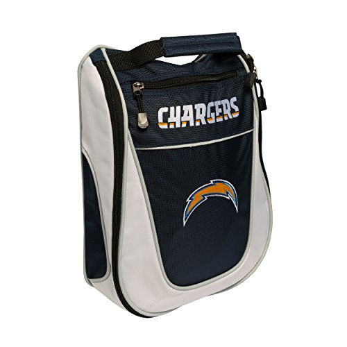 Team Golf NFL San Diego Chargers Travel Golf Shoe Bag, Reduce Smells, Extra Pocket for Storage, Carry Handle ()