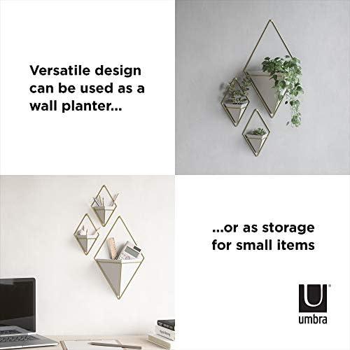Umbra Trigg Wandvase cache-pot pot de fleurs noir//LAITON CÉRAMIQUE//Métal 2er Set