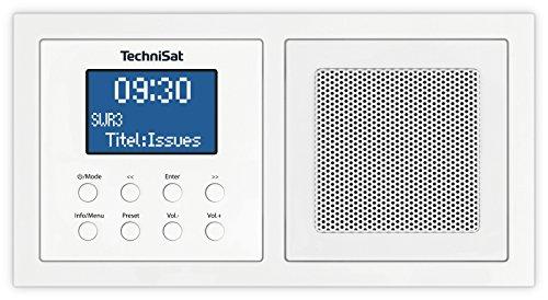 TechniSat DIGITRADIO UP 1 – DAB+ inbouwradio voor installatie in elke dubbele inbouwdoos, DAB, FM, dimbaar lcd-display…