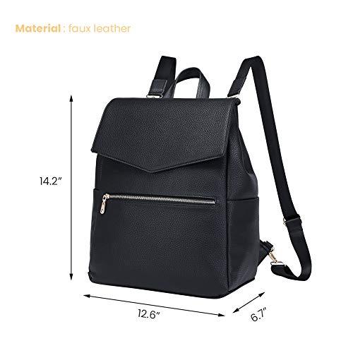 LXY Womens Backpack Purse Large Black Leather Convertible Shoulder Bag School Bookbag Fashion Backpack Travel