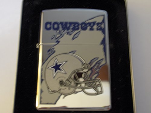 Zippo NFL Dallas Cowboys National Football League High Polish Chrome Lighter by Zippo