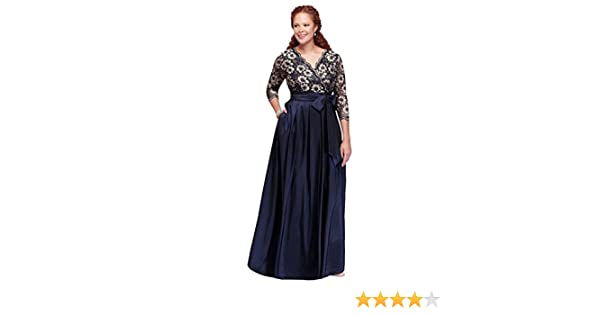 f06959c733b Plus Size Floral Lace and Shantung Ball Mother of Bride Groom Gown Style  JHDW1501 at Amazon Women s Clothing store