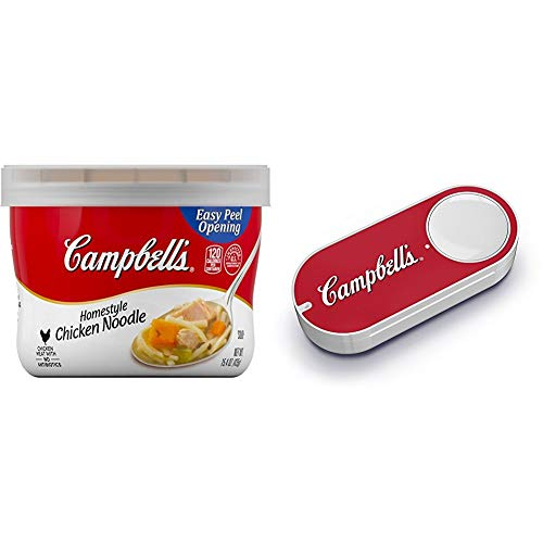 Campbell's Homestyle Soup, Chicken Noodle, 15.4 Ounce (Pack of 8) + Campbellâ€s Microwaveable Soup