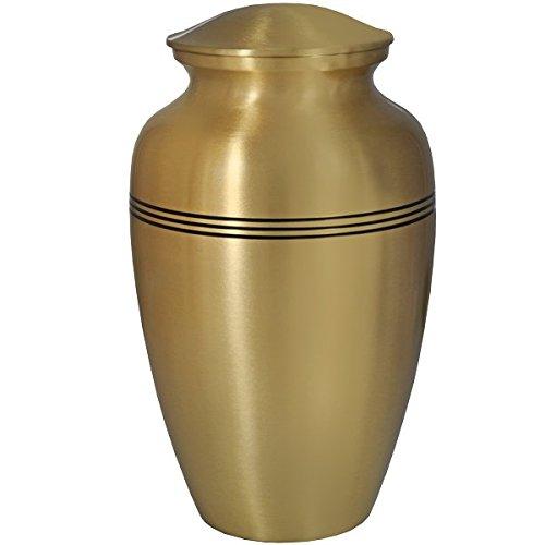 Memorial Gallery Classic Cremation Urns, Full, Golden