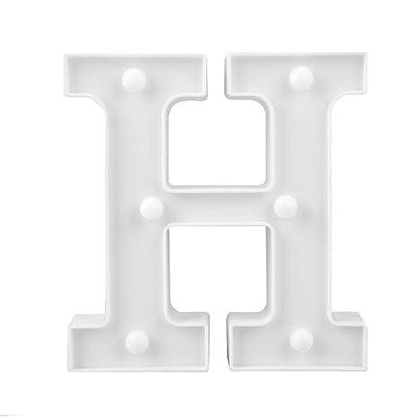 Lettres D/écoratives Hillrong 3D LED Lettre Nuit Lumi/ère Tenture Murale Chapiteau Signe Alphabet D/écor Lampe O Lumi/ères D/écoratives Alphabet LED