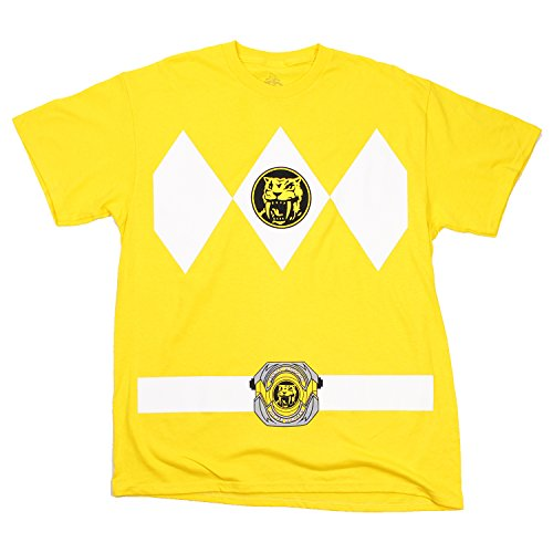 Power Rangers Yellow Rangers Costume Adult T-shirt Tee (Medium)]()